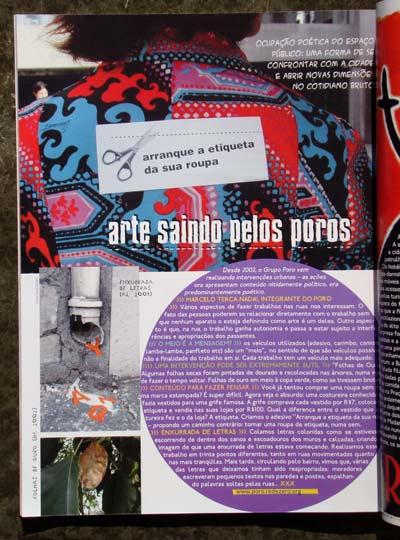 Revista Mondana - Arte saindo pelos Poros - Coletivo Poro