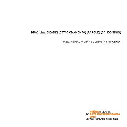 Brasília: (Cidade) [Estacionamento] (Parque) [Condomínio] - Grupo Poro