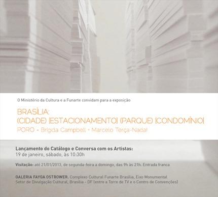 Convite Poro na Funarte de Brasília