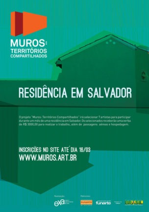 Muros - residência artística em Salvador Bahia