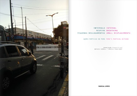 Livro Intervalo, Respiro, Pequenos deslocamentos - Grupo Poro