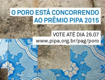 Grupo Poro concorre ao Prêmio PIPA