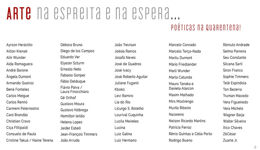 Artistas brasileiros produzindo arte na quarentena