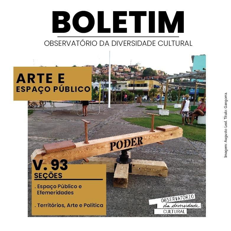 Arte e Espaco Público - Boletim Observatório Diversidade Cultural